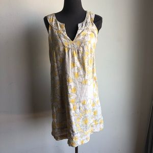 Loft sz 2 floral 100% cotton shift dress